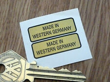 "MADE IN WESTERN GERMANY Bike Stickers 1.25"" Pair Classic Motorcycle Vintage Car"