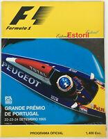 Formula 1 Estoril 1995 Grande Premio De Portugal Programa & Poster Portuguese