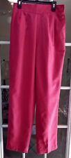 Vintage That's Me Women's Pink Wool Blend Lined Pleated Pants High Waist  9/10