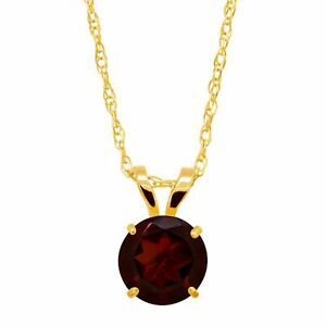 """Round-Cut Solitaire Pendant in 10K Gold, 18"""""""