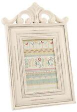 Antique Cream Scroll Wooden Photo Frame