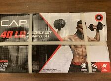 NEW CAP 40 Lb Total Adjustable Cast Iron Dumbbell Weight Set FREE SHIPPING