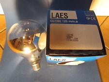 LAES Lámpara de globo G125 E27 Espejo de piso Suelo PLATA 100W ø 125mm Bombilla