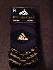 Adidas Black/Gray/Gold/Maroon Football Speed Mesh Traxion Crew Socks Men M 6.5-9