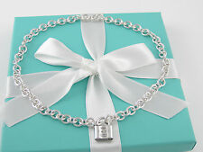 Tiffany & Co 1837 Padlock Charm Necklace Pendant Box Pouch Packaging