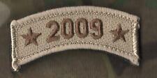 US WAR ON TERROR COMMEMORATIVE TROPHY VELCRO DESERT CAMO TAB SINCE 9-11: 2009