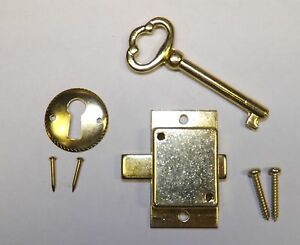 Howard Miller Older Style Grandfather Clock Door Lock Key Set NEW Brass Ridgeway