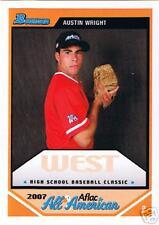 Austin Wright 2007 Aflac Baseball Bowman RC Card Rare