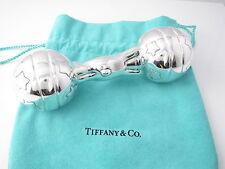Tiffany & Co NEW RARE Silver Vintage Teddy Bear Star Ball Baby Rattle Teether