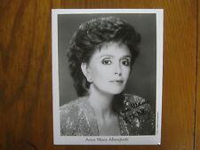 ANNA MARIA ALBERGHETTI  The Ed Sullivan Show Signed  8 X 10  Glossy B & W Photo