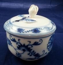 Large Teichert Meissen Blue Onion Covered Sugar Jar Oval Star Hallmark