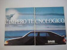 advertising Pubblicità 1986 SAAB 9000 TURBO 16