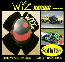 SPARKY WIZ KNEE SLIDERS SMILEY FACE RED BLACK