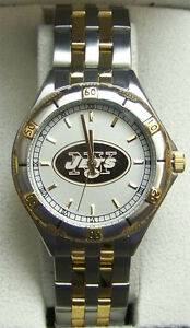 NY New York Jets Gold Logo Watch Mens Game Time General Managers Wristwatch