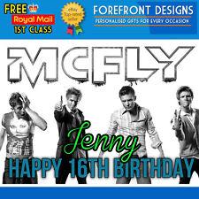 Personalizado Mcfly Banda-Tom-Danny Jones Feliz Cumpleaños tarjeta de saludo A5