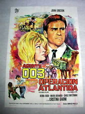 OPERATION ATLANTIS Film SPY ESPIONAGE Movie Poster JOHN ERICSON CHRISTINA GAIONI