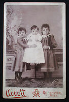 1880's  CDV Cabinet Photo, 3 Victorian Sisters Stands, Unusual Pose...