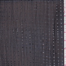 Black/Silver Foil Cube Crinkled Chiffon, Fabric By The Yard
