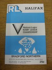 26/12/1980 programma Rugby League: Halifax scatto V BRADFORD del Nord. grazie per vie