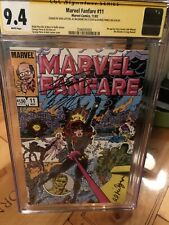 Marvel FanFare #11 CGC 9.4 Signature Series Gorge Perez Bob Layton Al Milgrom