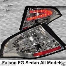Chrome LED Tail Lights Ford Falcon FPV FG Sedan G6E Turbo XT XR6 XR8 BOSS GT GS