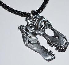 "Tyrannosaurus Rex T-Rex Dinosaur Necklace Fossil Replica 1 1/2"" size LG #883 2o"
