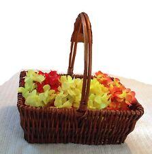 "Flower Basket Fruits Basket Gift Basket w/handle Wicker/Willow Basket Small14"""