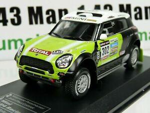 RD27 1/43 IXO Direkt Rallye MINI All4 Racing DAKAR 2013 S PETERHANSEL winner 1