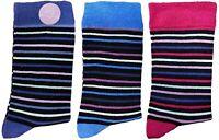 3 Pairs of Ladies JA9 Patterned Cotton Socks by Jennifer Anderton , UK Size 4-8