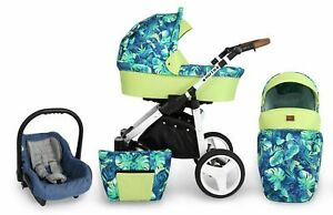 Passeggino Trio Baby Carrozzina 3in1 Seggioliono Ovetto Auto Kunert Rotax