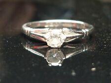 Stunning Platinum 0.25ct Brilliant cut solitaire diamond ring FREE SIZING