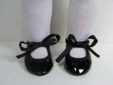 "Black Patent Tap-Dance Doll Shoes For 18"" American Girl (Debs)"