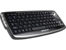 IOGEAR GKM681R Black RF Wireless Keyboard with Optical Trackball and Scroll Whee