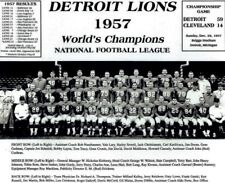 1957 DETROIT LIONS CHAMPS ,TEAM PHOTO NICE PIECE OF FOOTBALL HISTORY 8x10