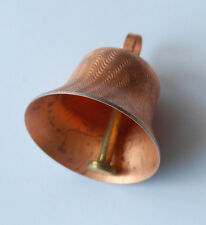 VINTAGE COPPER PLATED METAL BELL WORKS • 1 & 3/8 inches tall