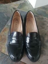 Tod's Classic Penny Loafers Black Leather Womens  SZ EU 36 US 5 MINT Md in Italy