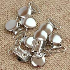 10 Pcs Round Metal Duckbilled Clamp Buckle Pacifier Suspender Holder Clips Craft