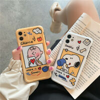 For iPhone 11 Pro XS Max X XR 7 8 plus Cute cartoon Snoopy Love Photo Frame Case