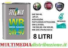 8 LITRI LT OLIO MOTORE SELENIA WR 5W40 DIESEL ORIGINALE FIAT ALFA ROMEO LANCIA