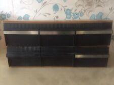 Vintage 6 Drawer Wood Effect Audio Cassette Storage Box