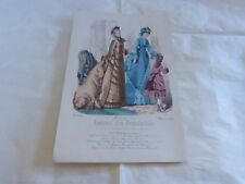JOURNAL DES DEMOISELLES N°3986 - mars 1875 - Lithographie !!! MODE !!!