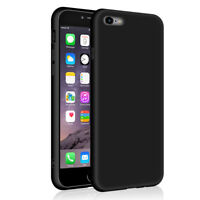 SDTEK iPhone 6s Plus / 6 Plus  Matte Funda Carcasa Case Bumper Silicone (Negro)