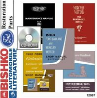 1961 1962 1963  Mercury Meteor Monterey Shop Service Repair Manual OEM Guide