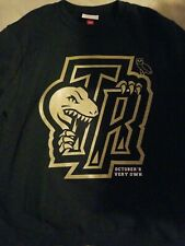 Toronto Raptors OVO Mitchell & Ness Crewneck Sweatshirt Black Gold Size Large