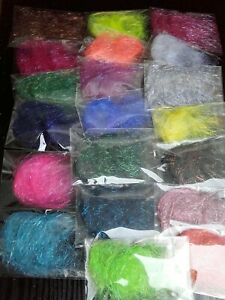 Heat Bondable Fibers Assorted Colours Starter Kit ~ Crafts Collage Art Sewing