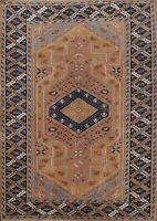 5x7 Vintage Tribal Anatolian Oriental Turkish Area Rug Hand-Knotted Wool Carpet