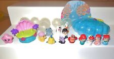 BLIP PRETEND TOY SQUINKIES MINIATURE DISNEY UNDER SEA MERMAID ARIEL BUBBLES LOT