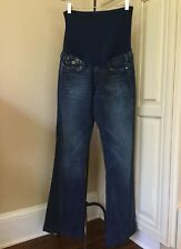 TRUE RELIGION A Pea In The Pod Maternity Flap Pocket Jeans ~ Size 28