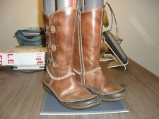 Pikolinos brown leather wedge  boots size uk 4 eu 37