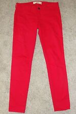 Looks New Womens Hollister Co Jeans Sz 5 Red Mid Rise Skinny JEans